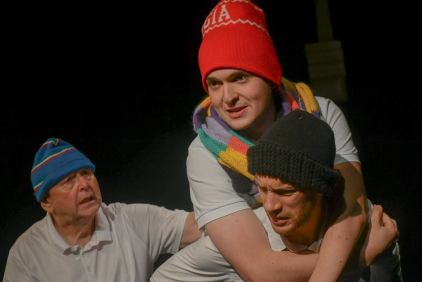 The Mr Men - George Bewley as Mr Tall, Greg Kelly as Mr Average and Andrew C. Husband as Mr Small