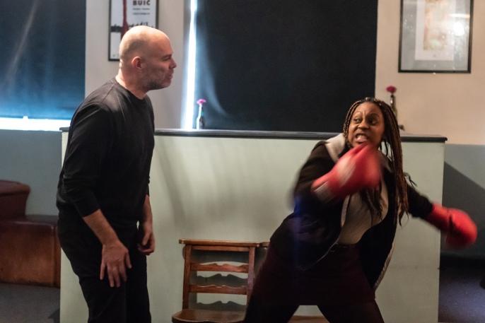 GRRL PWR - Tenika Coates as Kim and Steve Connolly as Fat Freddy
